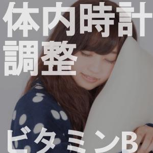 ビタミンB群は体内時計の調整で睡眠へ